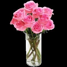 9 розовых роз (недорогой букет)